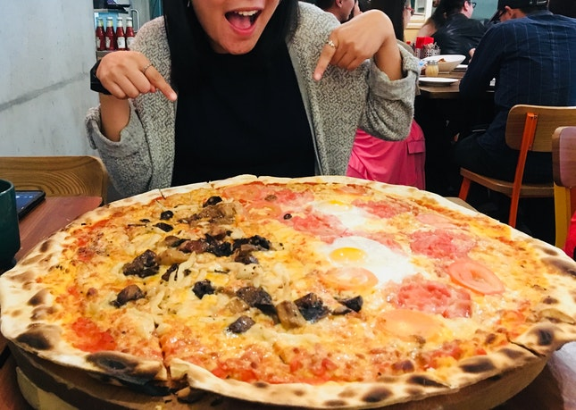 Is It A Small Friend Or A Huge Pizza
