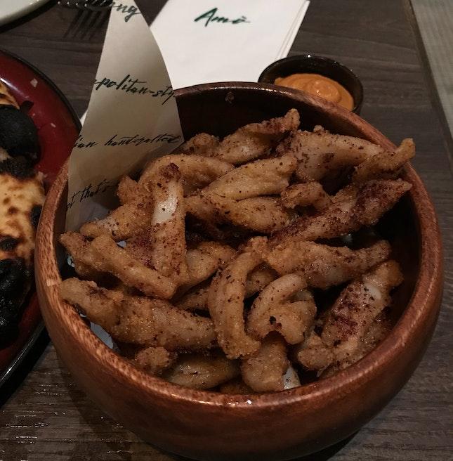 Crispy Calamari with Sumac and Sundried Tomato Aioli [$22]