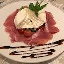 Burrata e Prosciutto di Parma [$32]