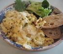 Scrambled Eggs, truffles, aged Parmesan [$19]