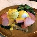 Eggs Benedict [$24]