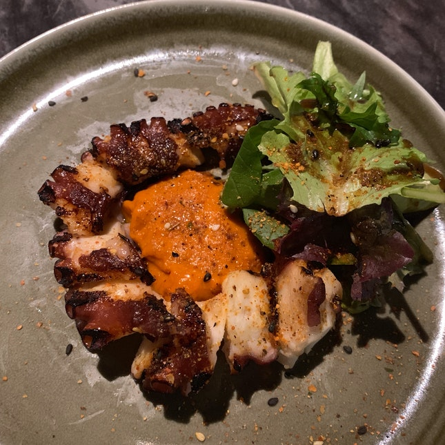 Octopus Leg | spicy pimento puree, herbs [$15]