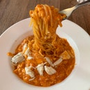 Chilli Crab Pasta [$17]