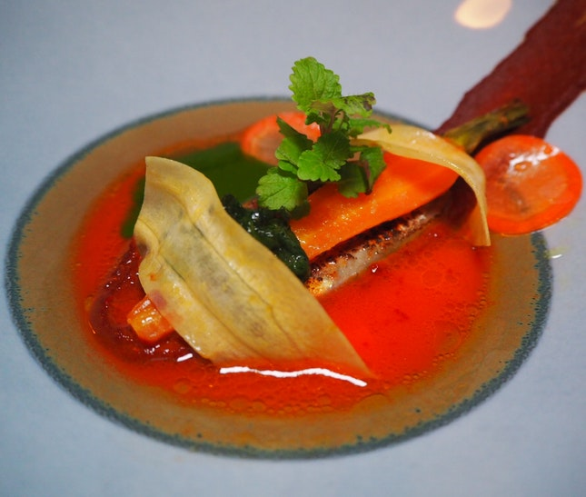 Fifth Expression (out of 7): Melisse, carrot, seaweed, sardine [$168]
