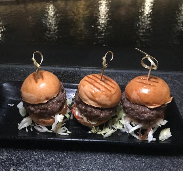 Wagyu Beef Sliders [$18]