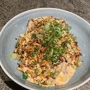 Burnt aubergine | white sesame, yoghurt, La-Yu (辣油) [$12]