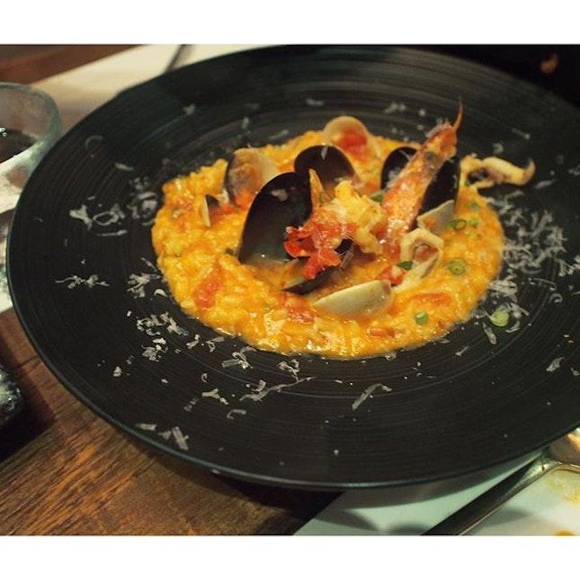 Seafood Gochujang Risotto ($24++).