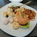 Hi tea buffet ($28++) but we bought th voucher frm fave so it was cheaper.