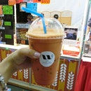 Th famous waan cha thai milk tea ($3.50) perfect drink for this humid weather 🍹 ✔️ 3.5/5 📍 Bayfront mrt