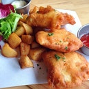 Fish and chips for brunch today!