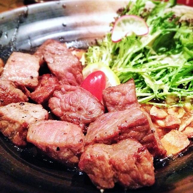 Wafu wagyu steak.