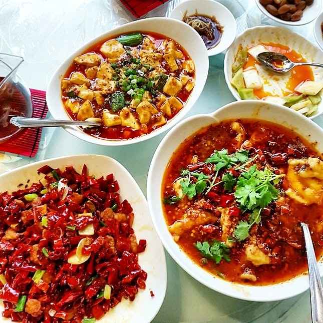 Sze chuan dou hua chili oil madness for lunch.