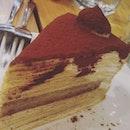 #tiramisu #millecrepe cake shared among 4 of us.