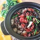 Chinese Sausage Rice and Claypot Sesame Chicken