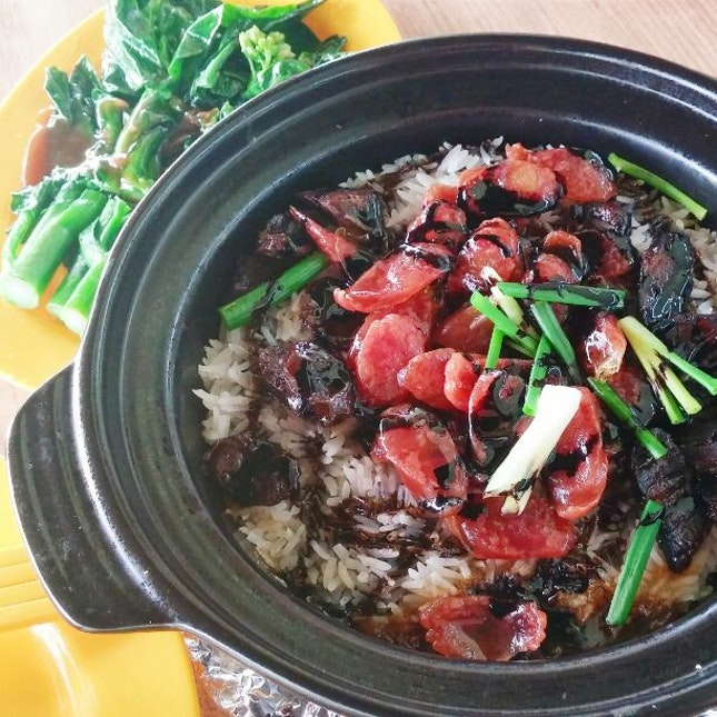 Chinese Sausage Rice and Claypot Sesame Chicken