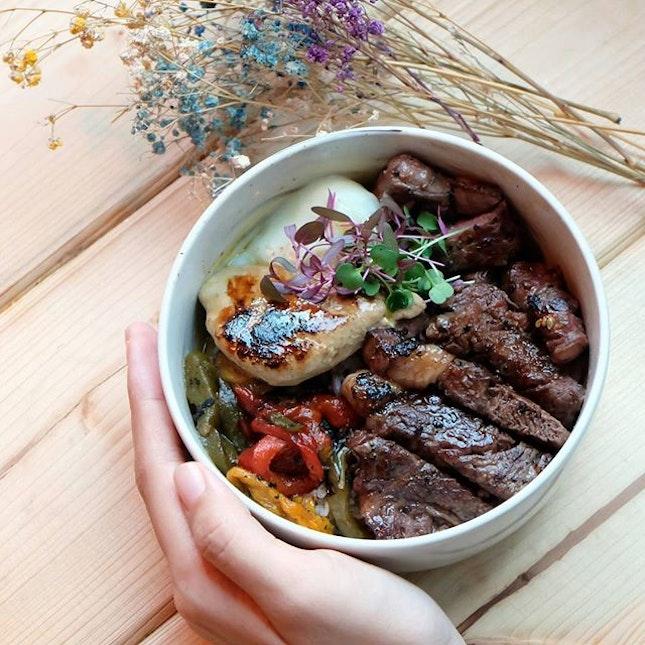 Truffle Ribeye Bowl with Foie Gras