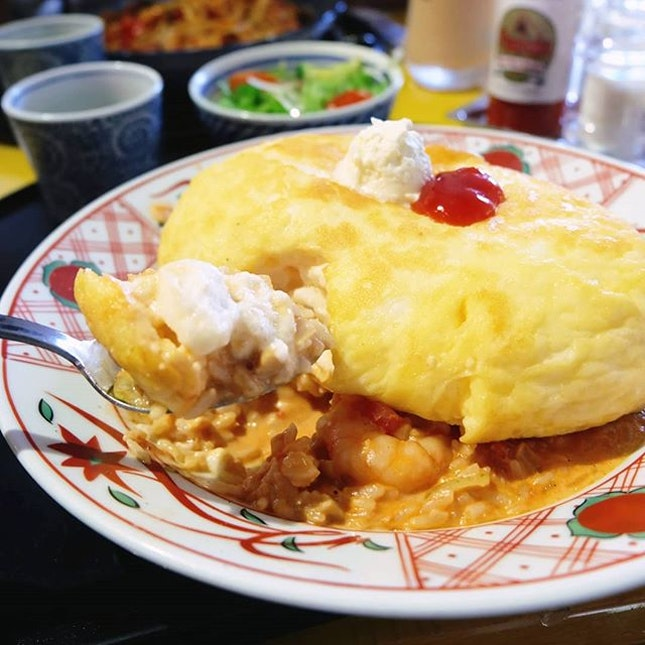All I want for lunch is this fuwa fuwa Omu Soufflé Tomato Cream Risotto ($16.80).