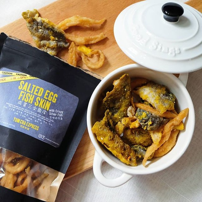 Salted Egg Fish Skin with Crispy Silver Fish