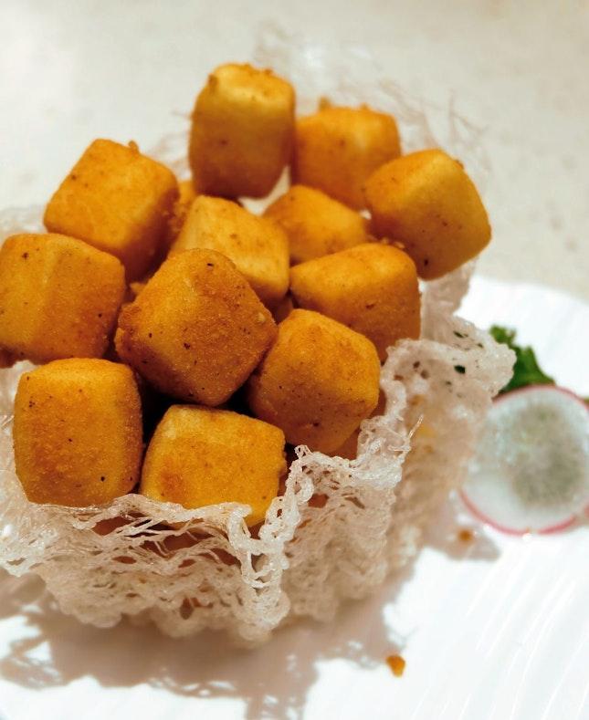 Crisp-fried Tofu with Salt and Pepper