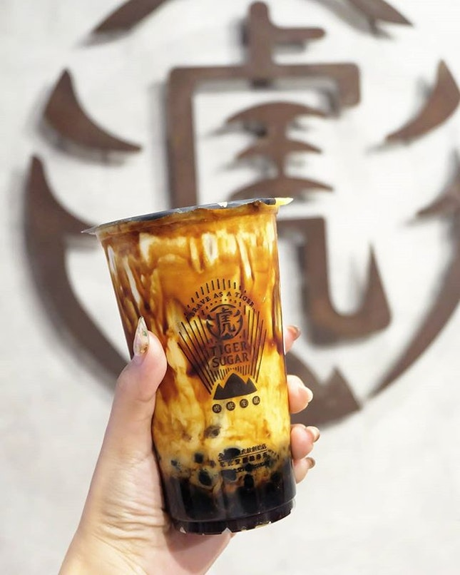 Brown Sugar Boba + Pearl with Cream Mousse ($5.30)