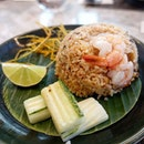 A Spicy Tom Yum Fried Rice for dinner with Mrs.