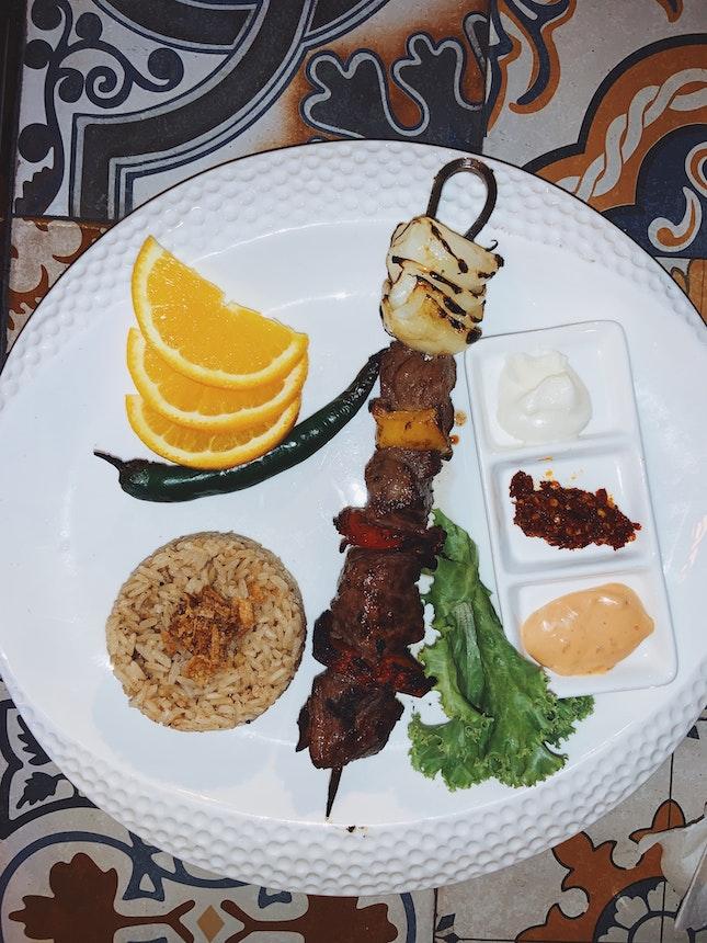 Beef Kebab | BB 3 Course Set Menu — Main