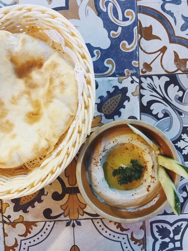 Hummus (Vegetarian) + Pita Bread | BB 3 Course Set Menu — Starter