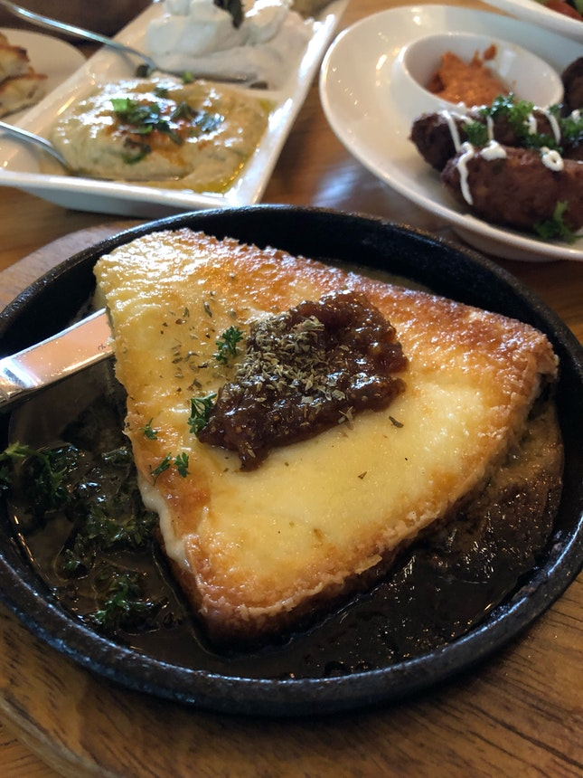 Grilled Cheese With Fig Sauce