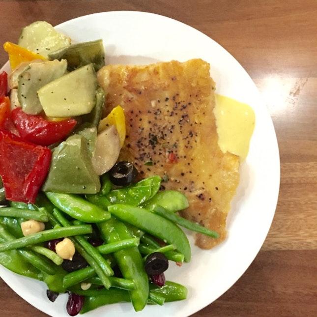 John Dory With 2 Salads ($11.40)