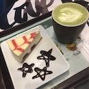 McCafe Green Tea Latte And Cheesecake