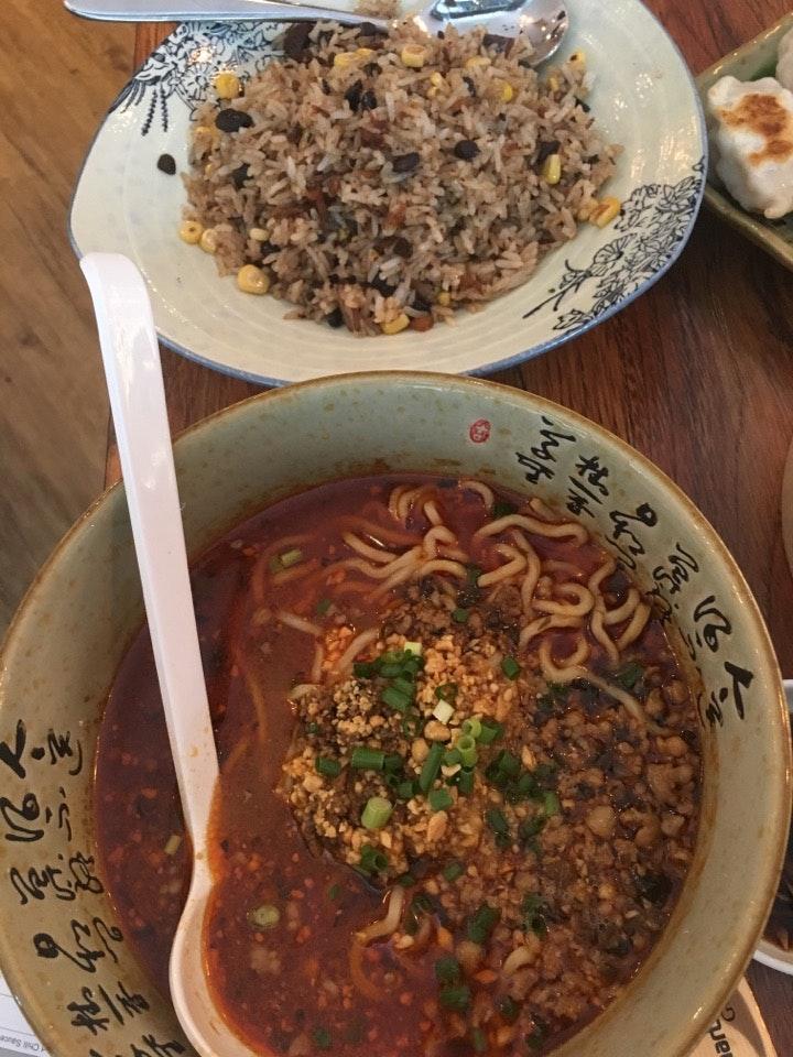 Dan Dan Mee And Black Beans Salted Fish Fried Rice