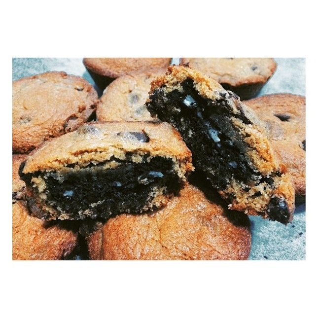 Oreo stuffed chocolate chip cookies 🍪 #cynfulbakes