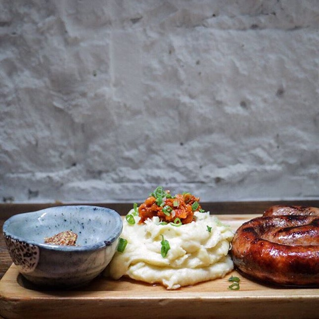 Here is Joo Bar's rendition of the classic Bangers & Mash ($24).
