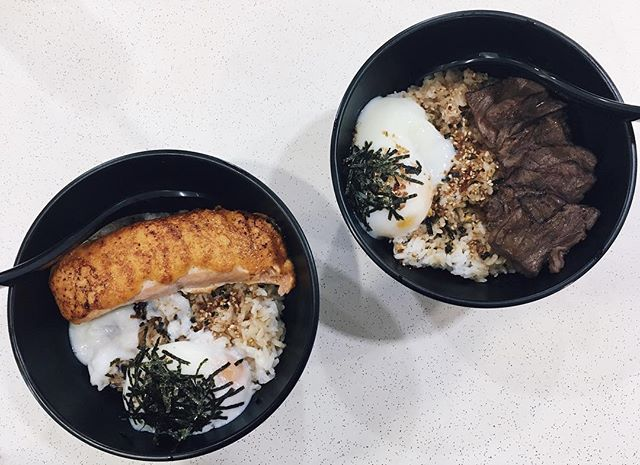 Mentaiko salmon don ($9.90) and Wagyu beef don ($12.90).