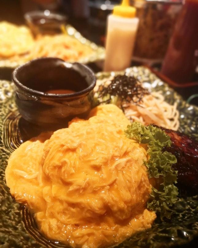 Omurice & Mentaiko Pasta Set Menu ($12.9)