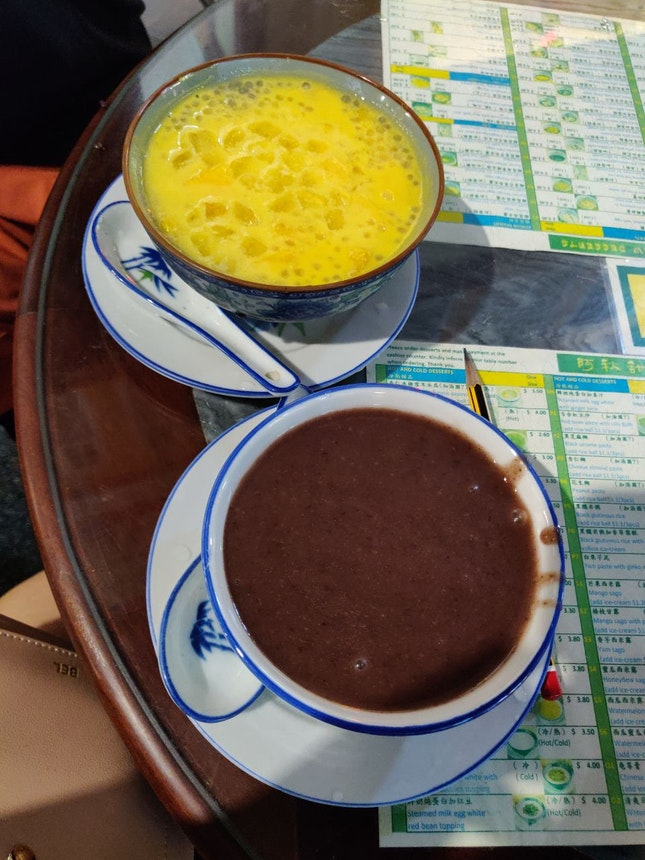 Mango Pomelo ($4) & Red Bean Paste ($2.70)