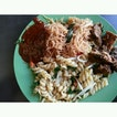 Bee Hoon and Spaghetti Goreng with Paru