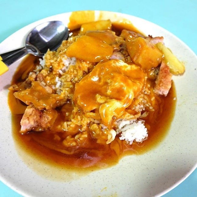 Toa Payoh Scissors Cut Curry Rice.