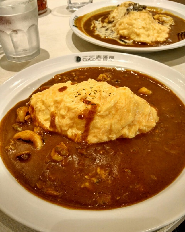 Seafood Curry Omu Rice