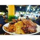 Subibi Big Rice ($23.80) - Singa Style BBQ with steak, sumibi yakitori, beef and pork.