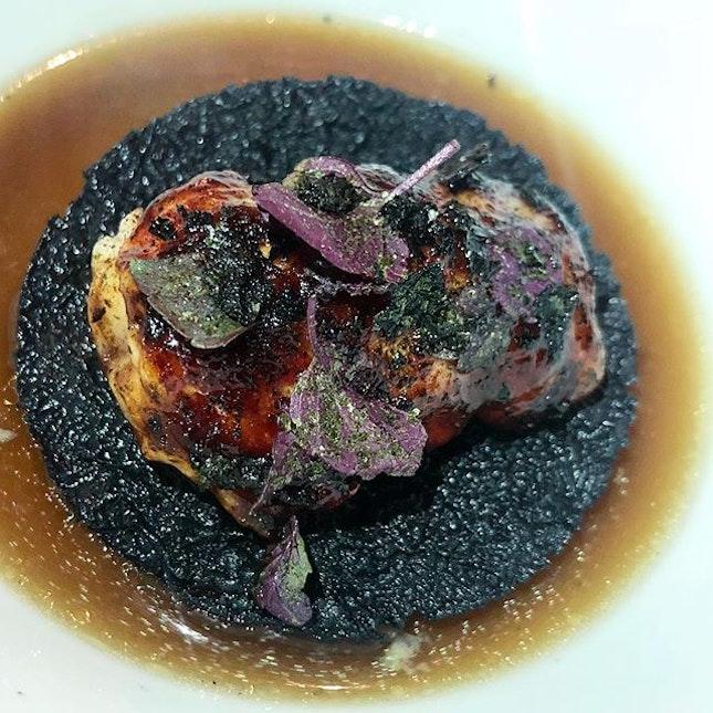 Black garlic lobster kushiyaki tuba and liquid corn #amayzingEatsKL #Burpple