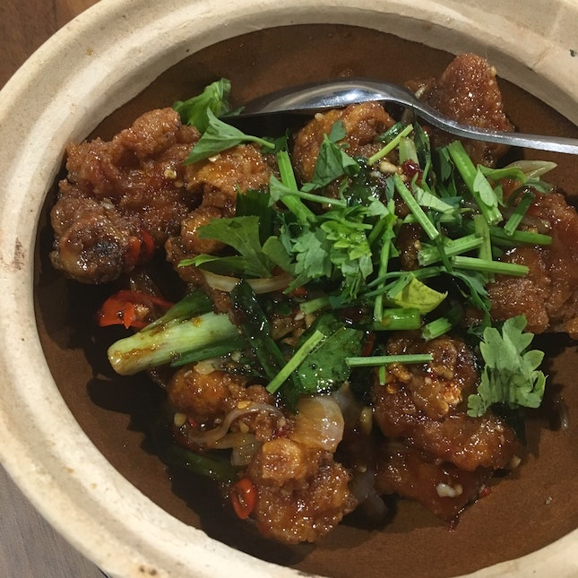 Claypot Golden Chicken ($10 for Small, $16 for Large)