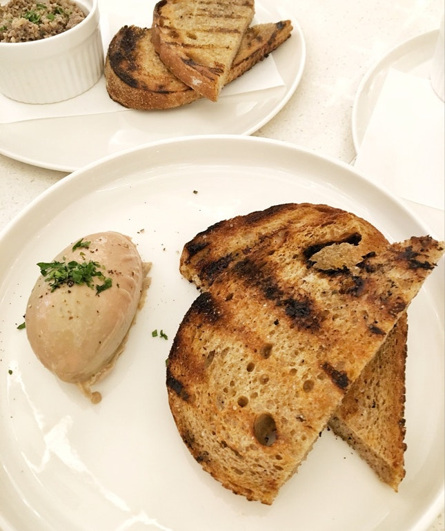 Toast with Foie Gras Mousse ($12)