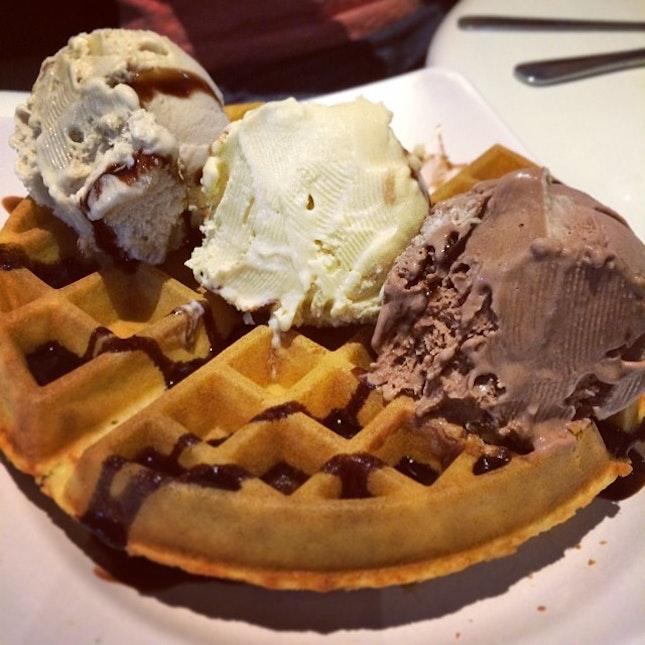 Ice-cream waffle!!!