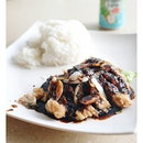 {Black pepper Chicken cutlet with rice} || oohhh, this thickened version sure does carry a punch in its wake.