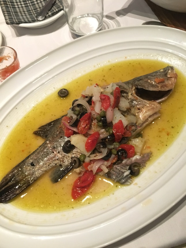 Branzino al forno all'Isolana