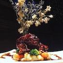Sous-vide Beef Cheek ($35) ~ the beef is stewed to tenderness.