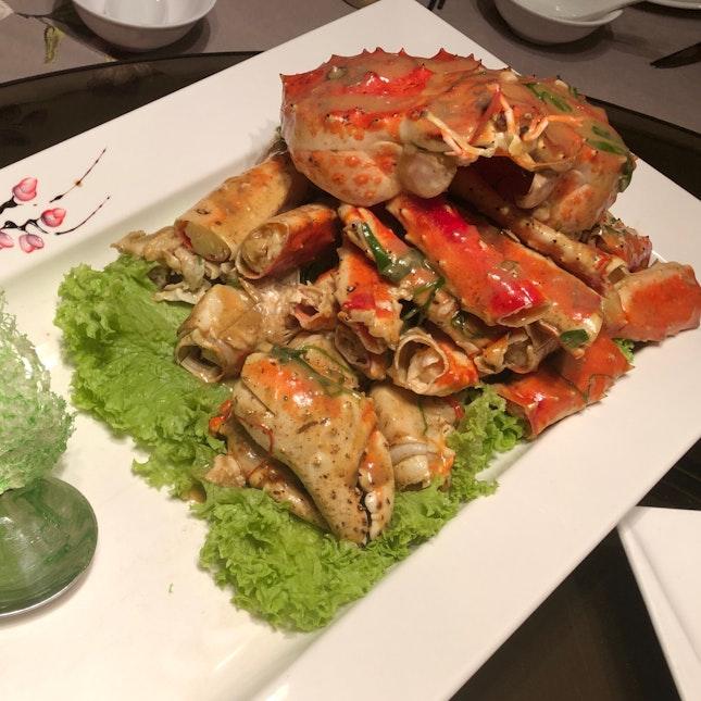 Alaskan King Crab w White Pepper Sauce