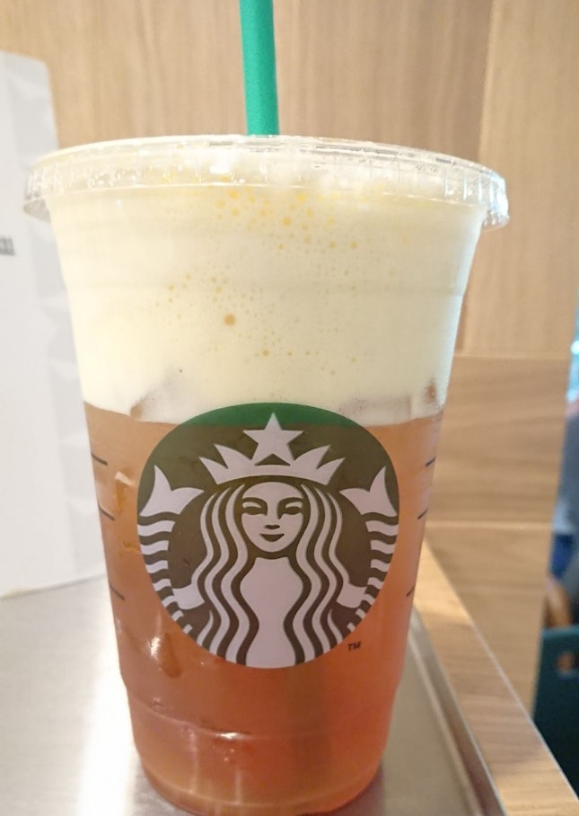 Mango Passion Fruit Cold Foam Iced Shaken Black Tea