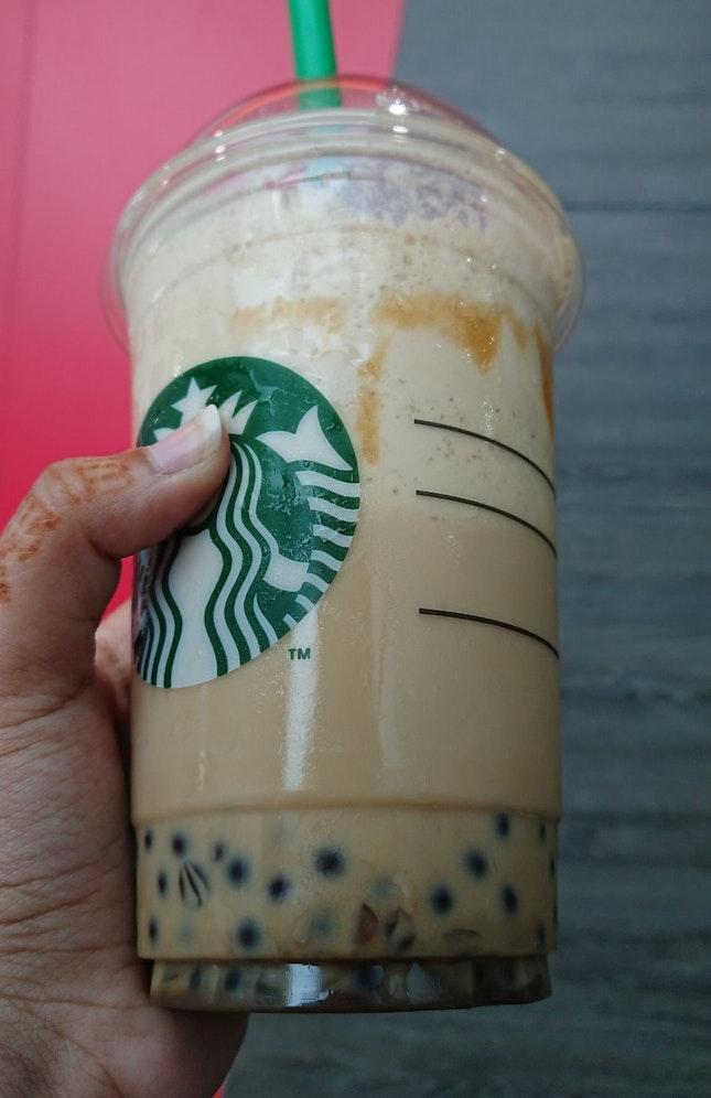 Dark Caramel Coffee Sphere Frappuccino
